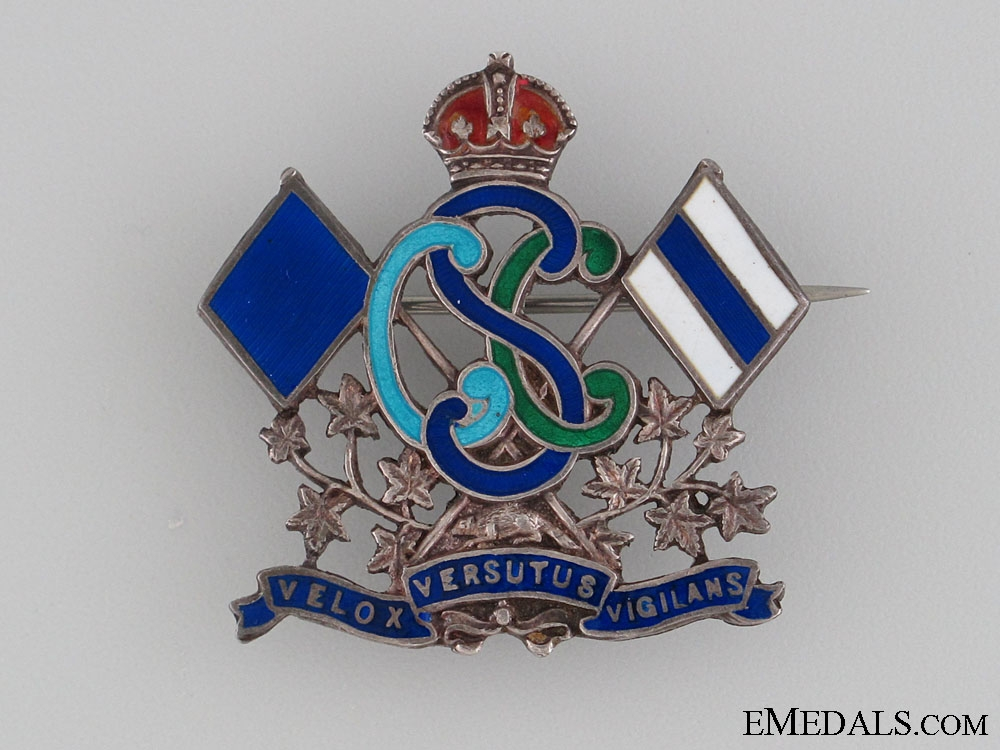 eMedals-WWI Canadian Signal Corps Sweetheart Pin