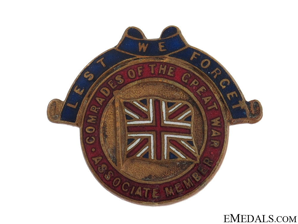 eMedals-WWI Comrades of the Great War Member Badge