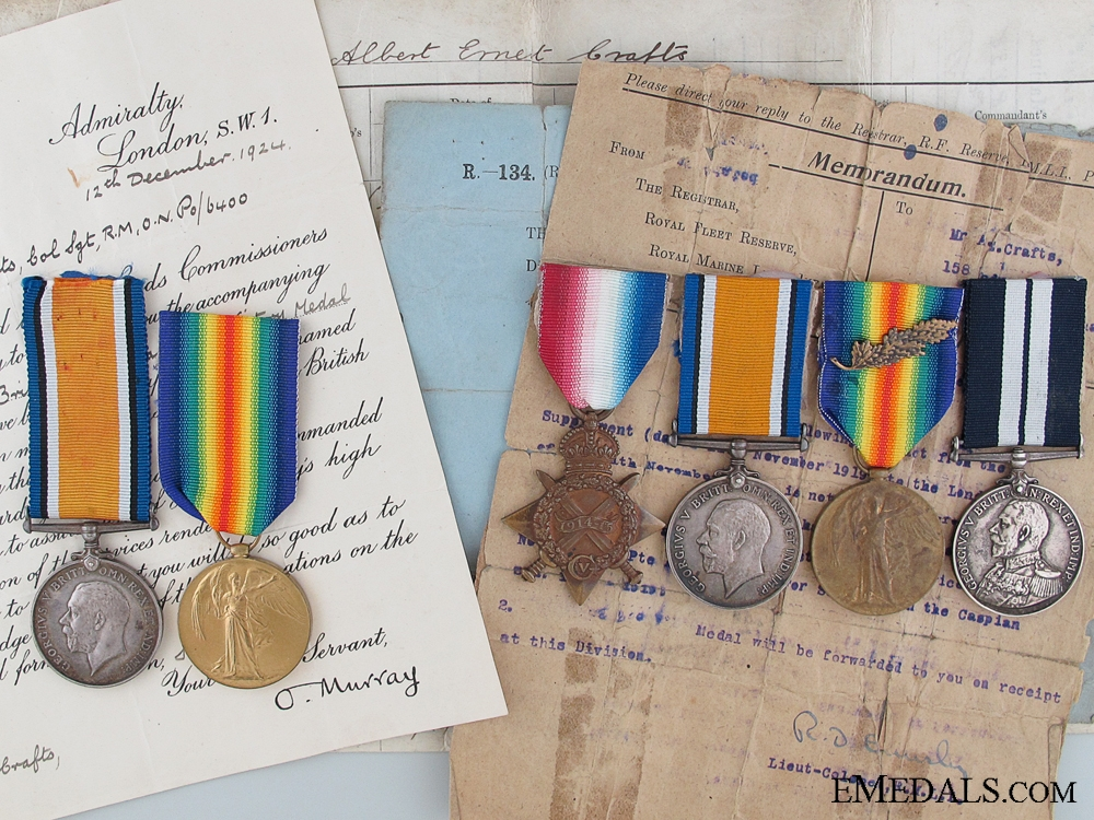 eMedals-The Medals of the Crafts Brothers: DSM Fort Alexandrovsk Veteran and Gallipoli Casualty