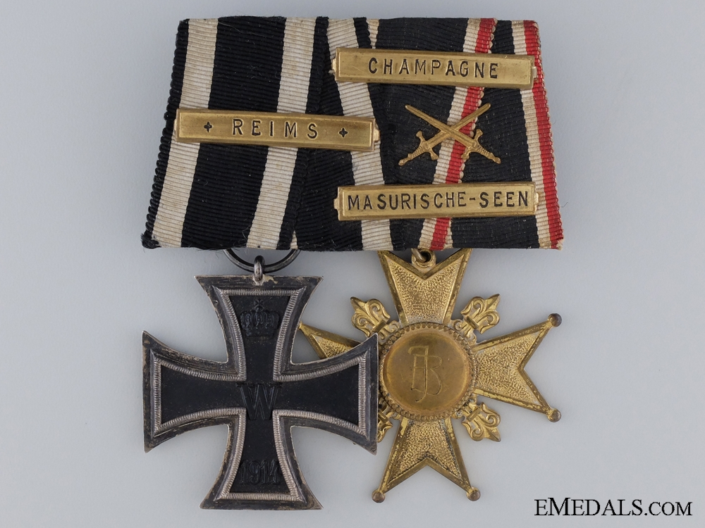 eMedals-WWI German Army Pair Named to Dem Ritter V.S.M. Josef