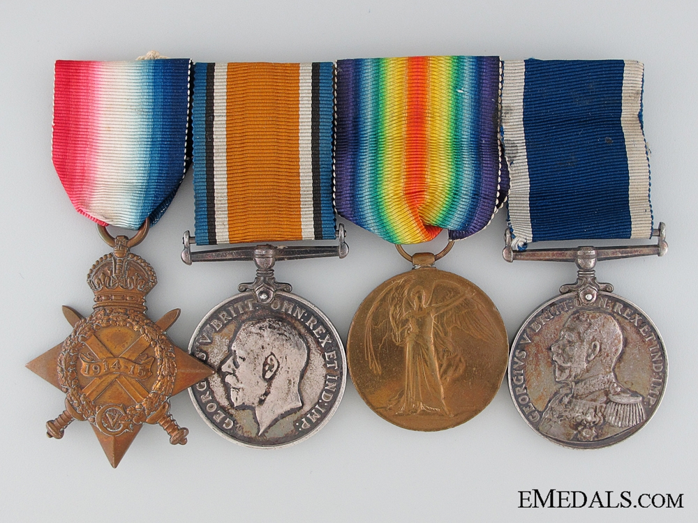 eMedals-WWI Group of Four to Able Seaman J.J. Shank, Royal Navy