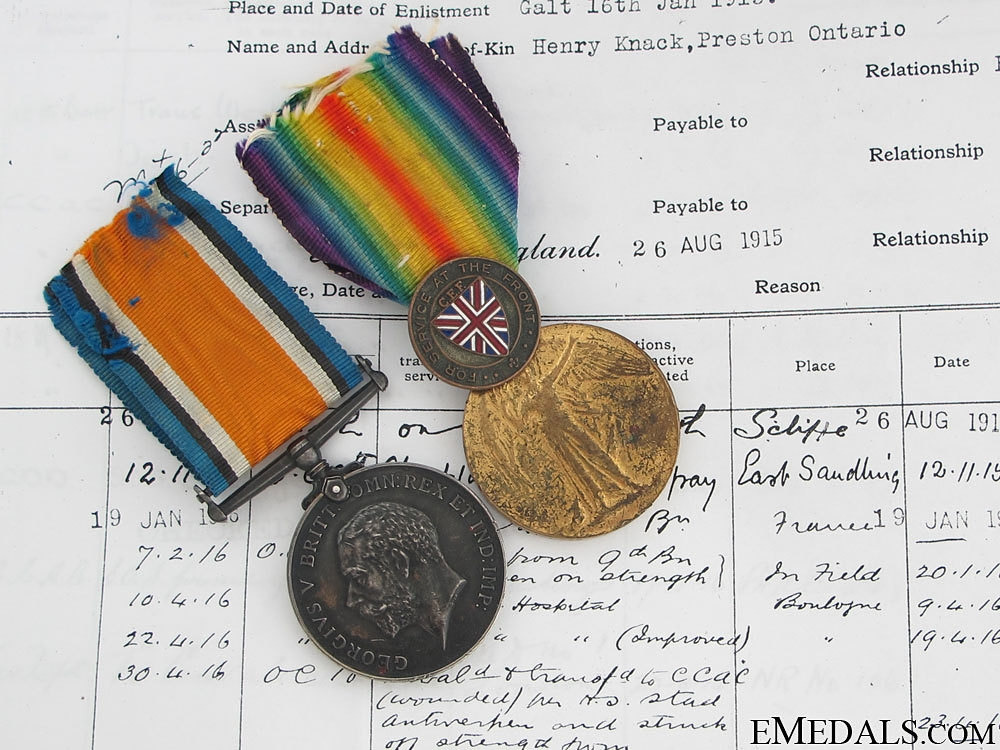eMedals-WWI Pair - St. Eloi Craters DOW