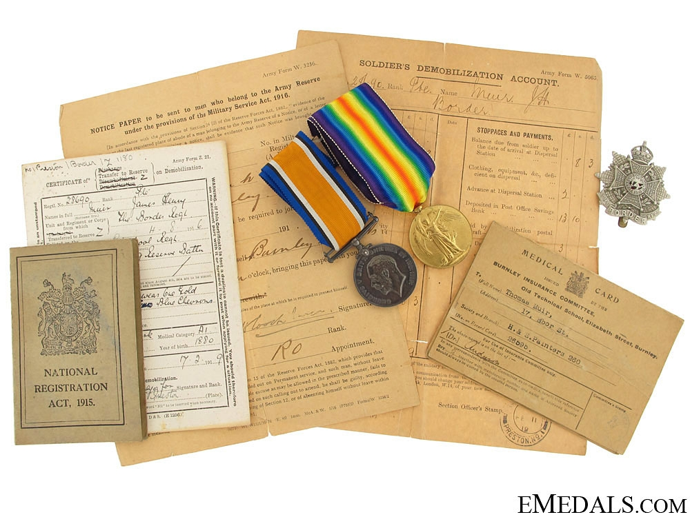 eMedals-WWI Pair to the 3rd Border Regiment