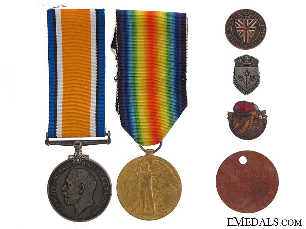 eMedals-Pair to the 75th Infantry - Shell Shock at Vimy