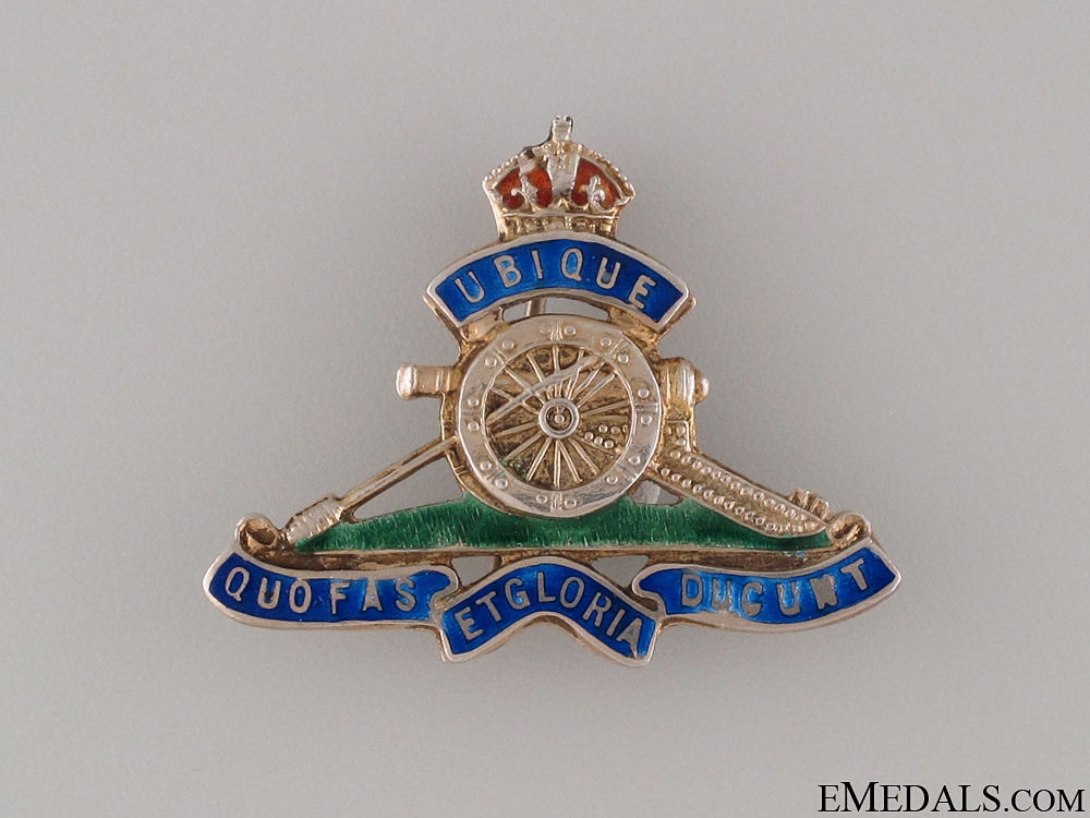 eMedals-WWI Royal Artillery Sweetheart Pin