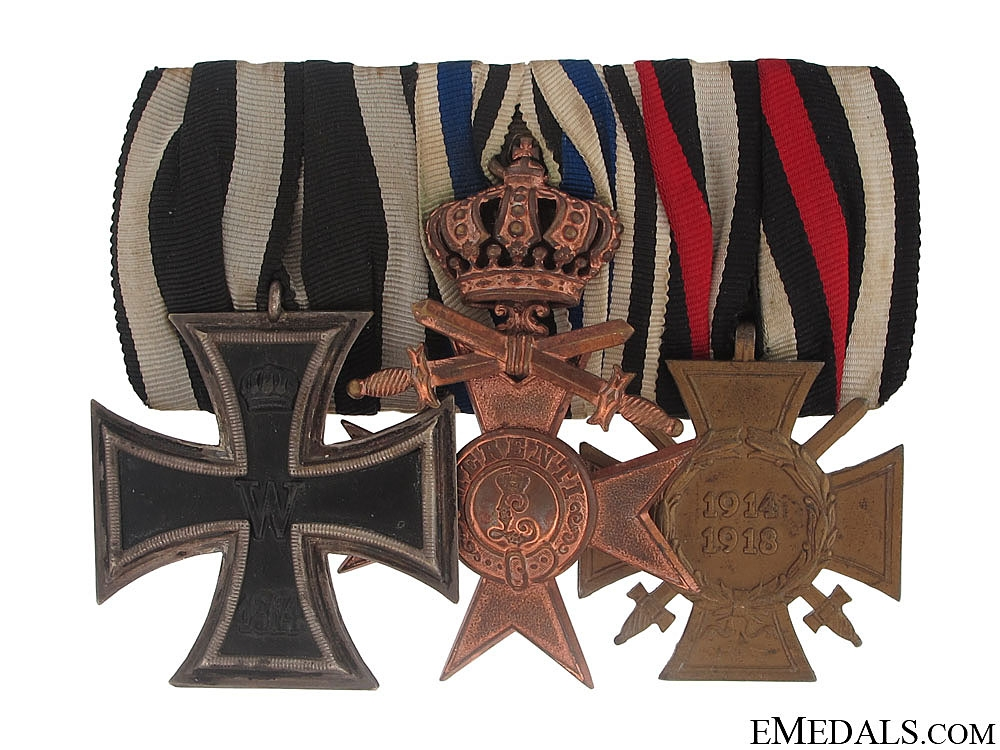 eMedals-WWI Veteran's Group of Three - Named