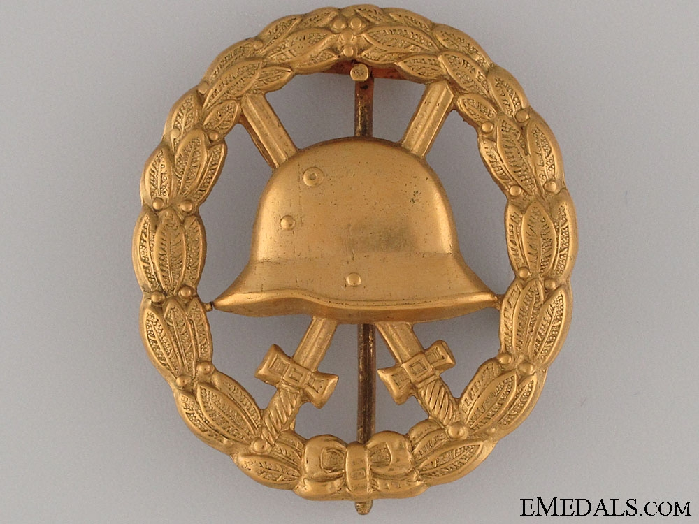 eMedals-WWI Wound Badge - Cut Out Gold Grade