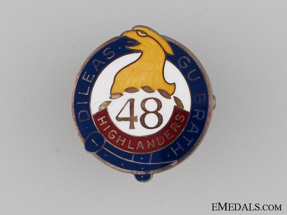 eMedals-WWII 48th Highlanders Sweetheart Pin
