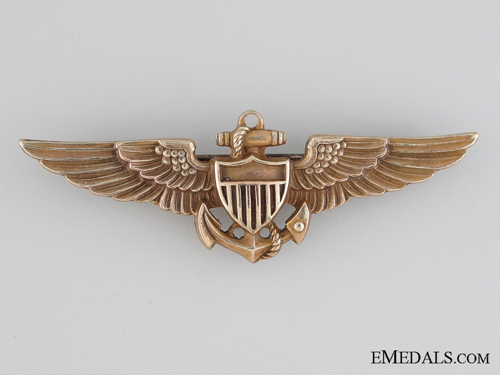 eMedals-WWII American Naval Aviation Pilot Badge