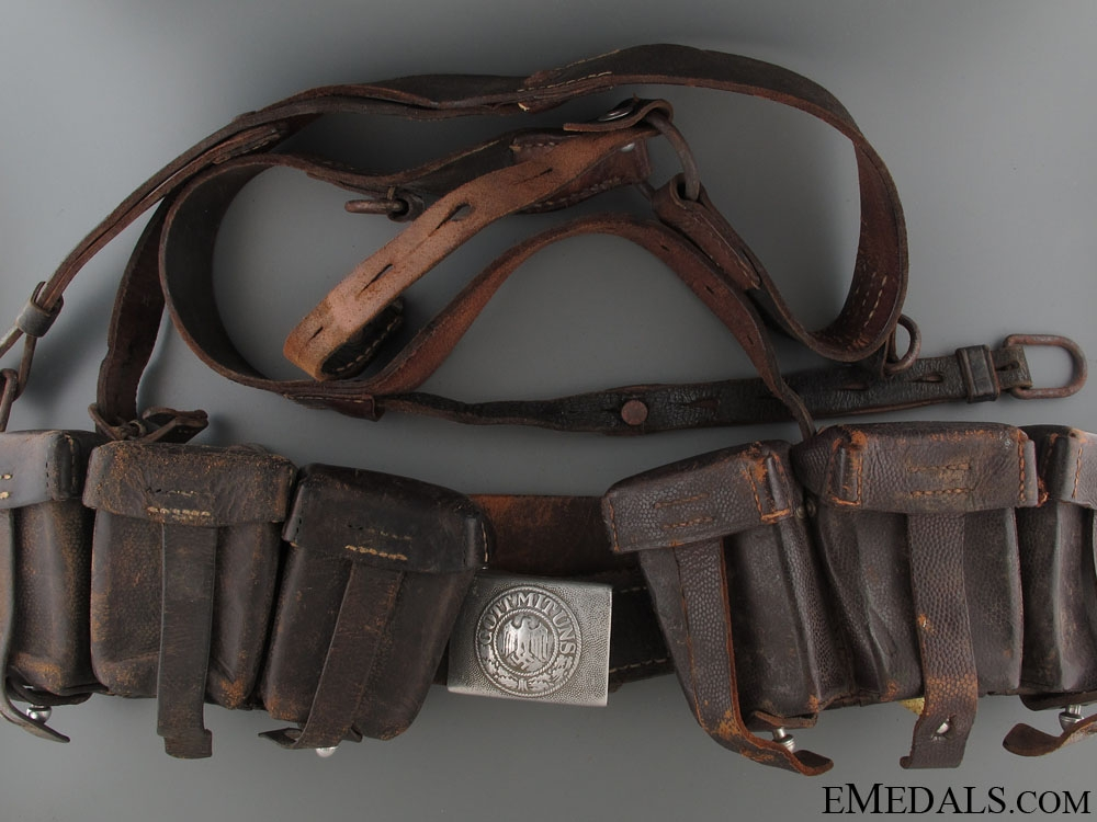 eMedals-WWII Army (Heer) Ammunition Belt with Buckle