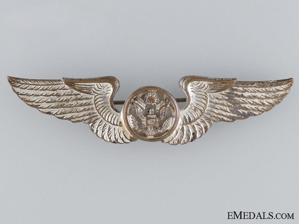 eMedals-WWII Army Air Force Air Crew Badge; Pacific Theatre Made