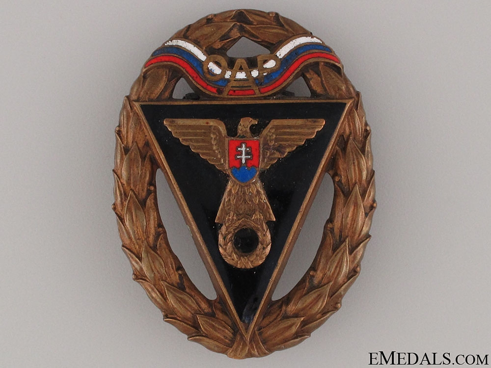 eMedals-WWII Army Racing Team OAP Badge - Third Class Badge