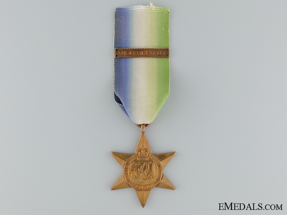 eMedals-WWII Atlantic Star with Air Crew Europe Clasp