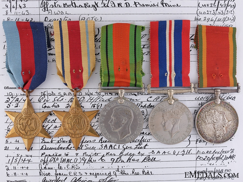 eMedals-WWII Awards to 5th South African Infantry; El Alamein Participant