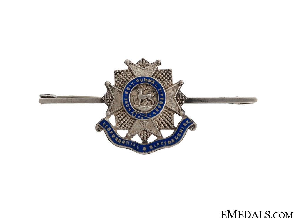 eMedals-WWII Bedfordshire & Hertfordshire Pin
