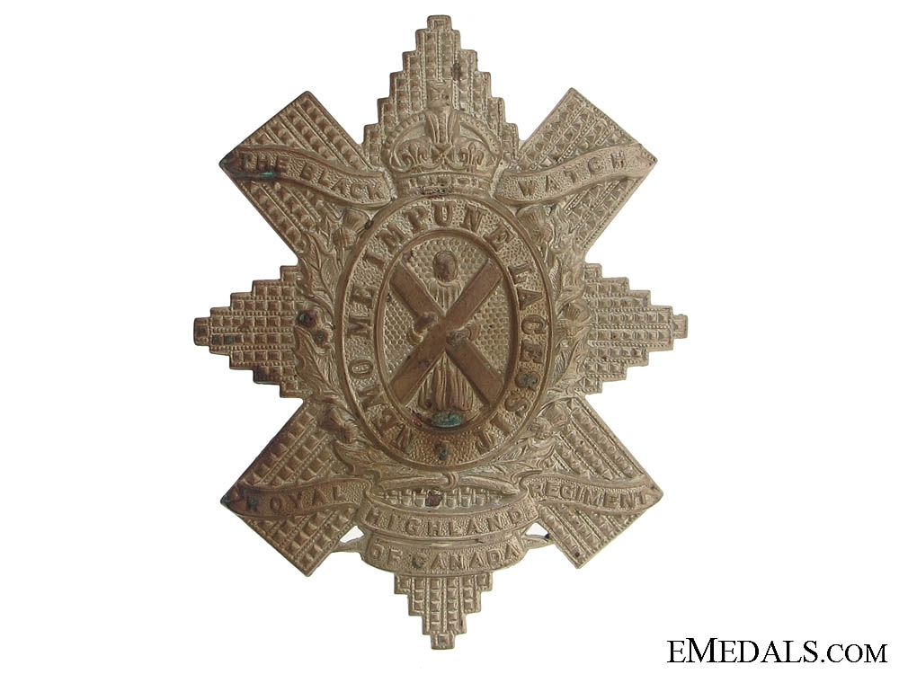 eMedals-WWII Canadian Black Watch Glengarry Badge