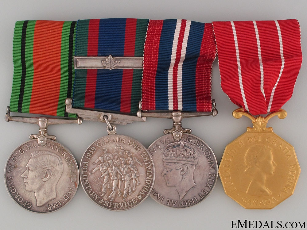 eMedals-WWII Canadian Forces Decoration Group
