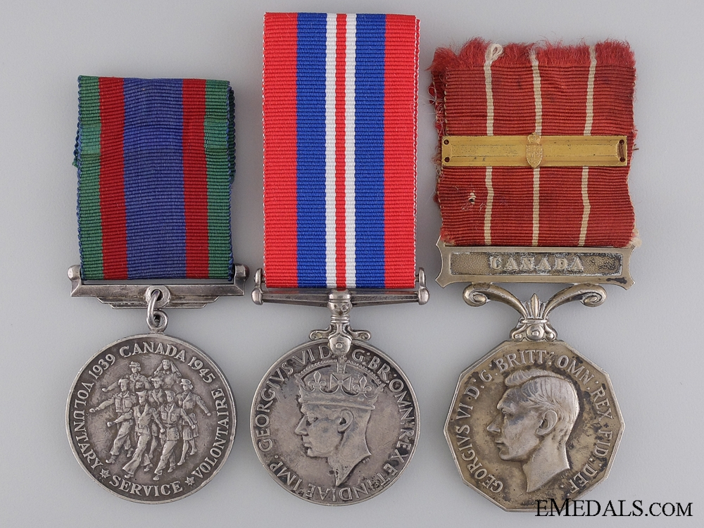 eMedals-WWII Canadian Forces Decoration Medal Group