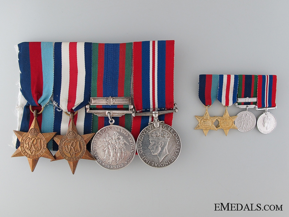 eMedals-WWII Canadian Group with Miniatures