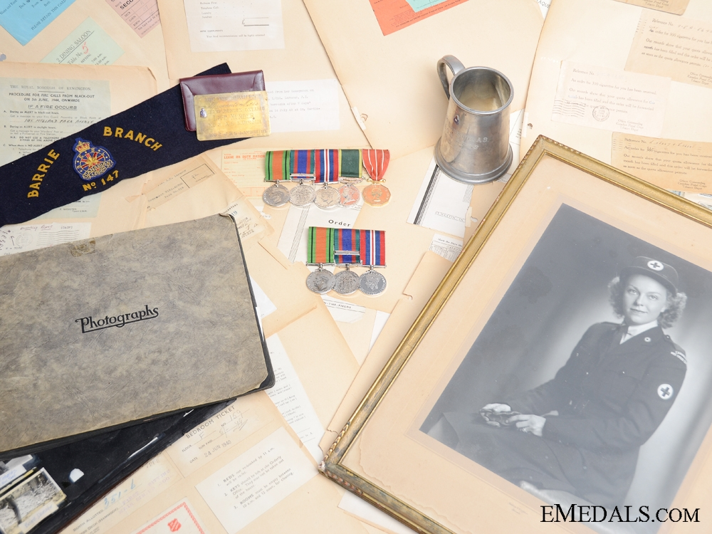 eMedals-WWII Canadian Husband and Wife Medal & Document Group