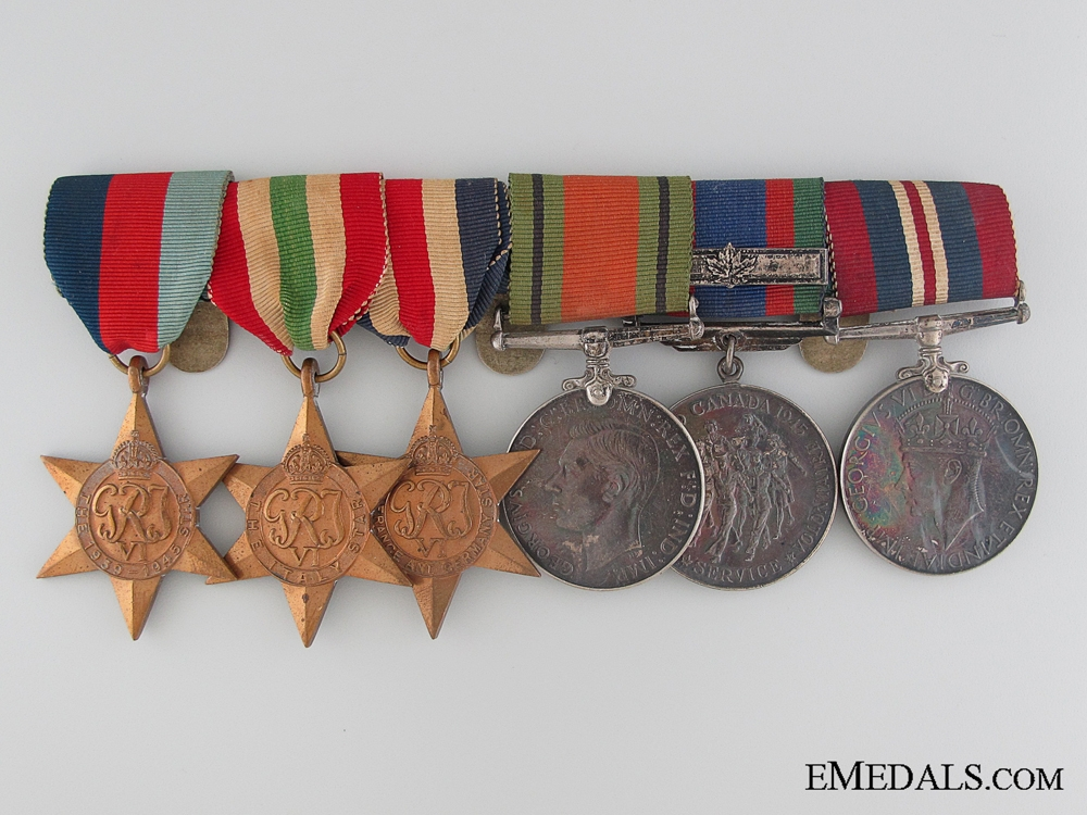 eMedals-WWII Canadian Medal Bar