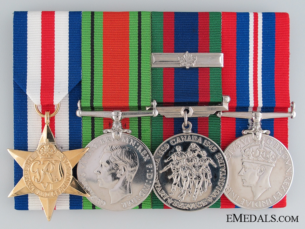 eMedals-WWII Canadian Medal Group of Four