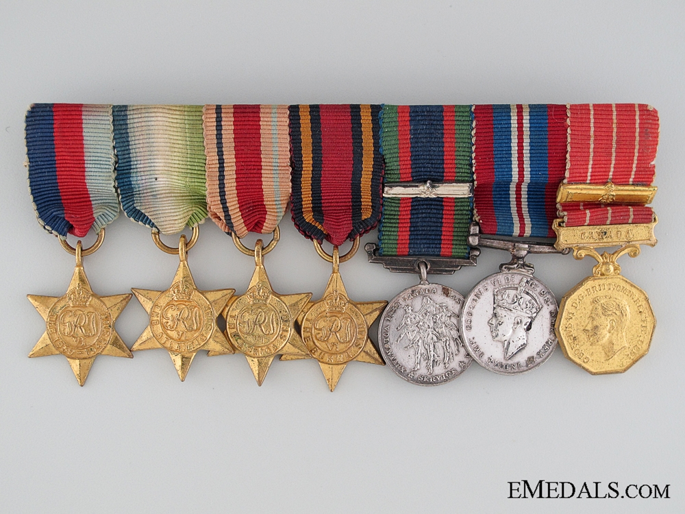 eMedals-WWII Canadian Miniature Group of Seven