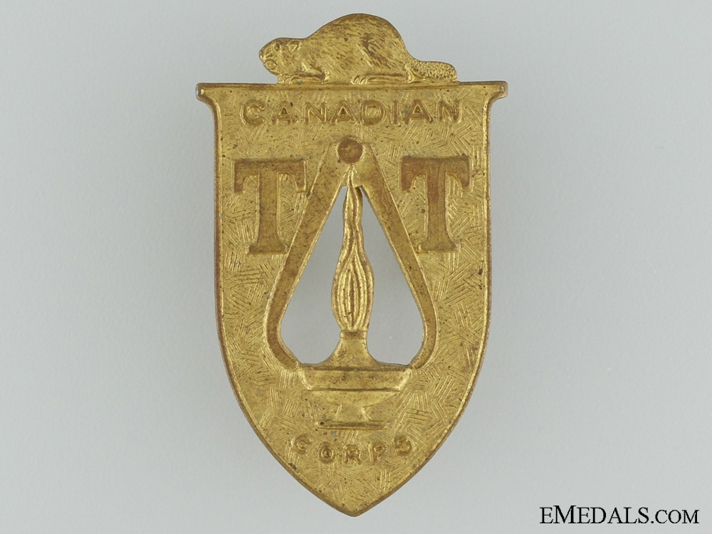 eMedals-WWII Canadian Technical Training Corps Cap Badge