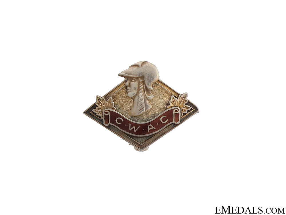 eMedals-WWII Canadian Women's Army Corps Pin