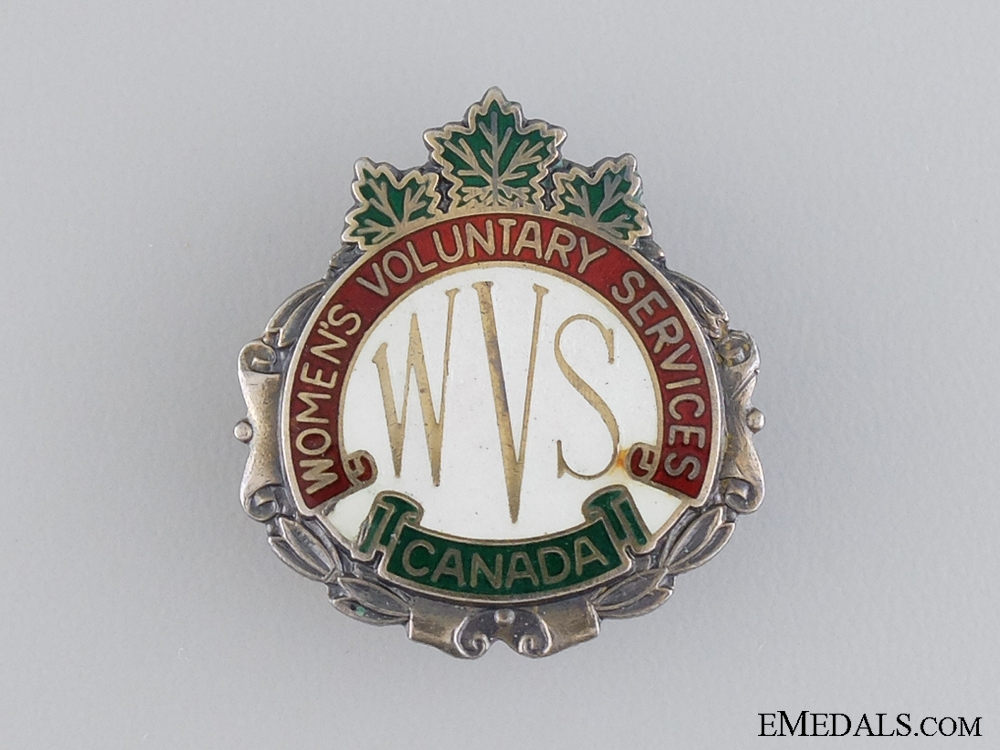 eMedals-WWII Canadian Women's Voluntary Services Badge