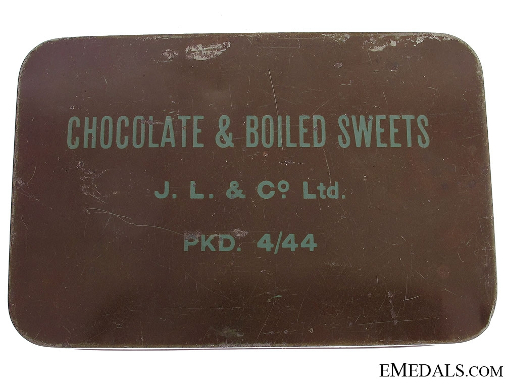 eMedals-WWII Chocolate & Boiled Sweets Ration Tin