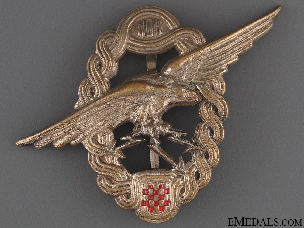eMedals-WWII Croatian Air Force Observer's Badge