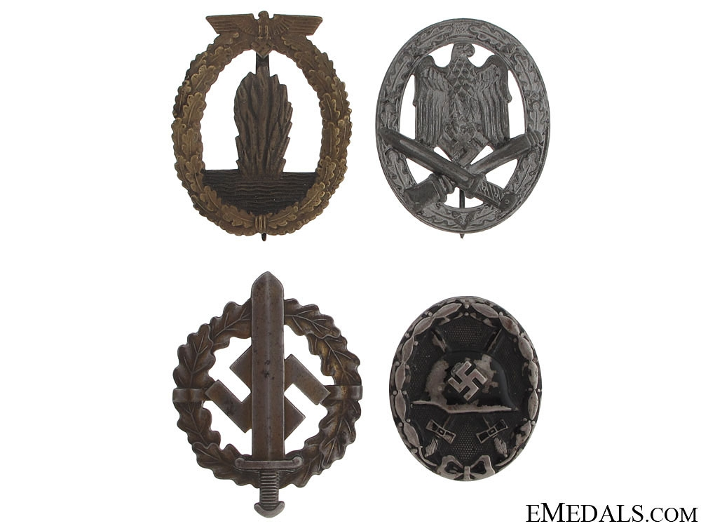 eMedals-WWII Four German Badges