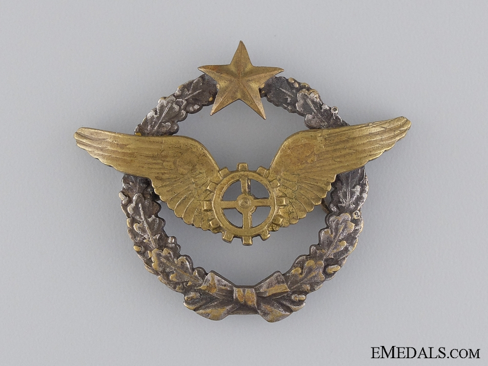 eMedals-WWII French Air Airship Flight Mechanic's Qualification Badge