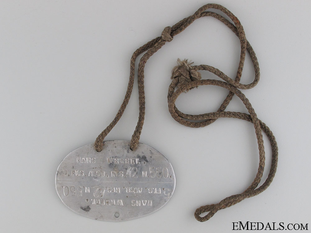 eMedals-WWII German Identification Tag