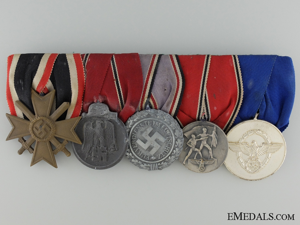 eMedals-WWII German Medal Bar of Five Awards