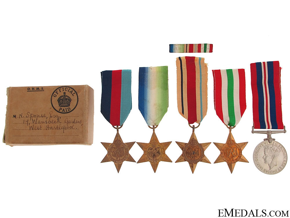eMedals-WWII Group of Five in Box