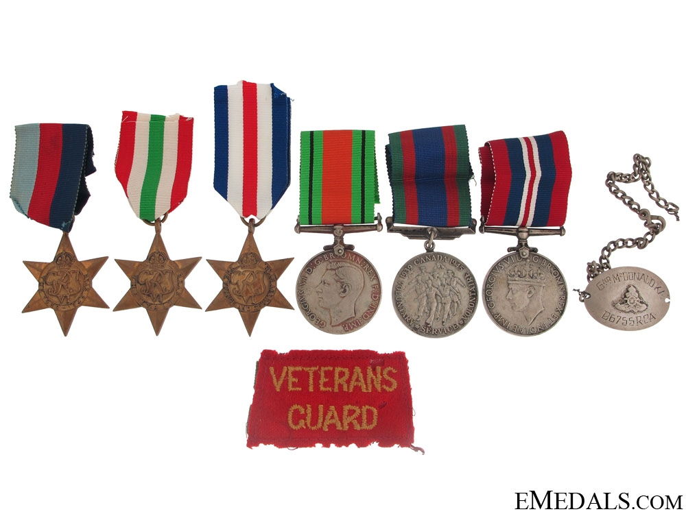 eMedals-WWII Group to the Royal Canadian Artillery