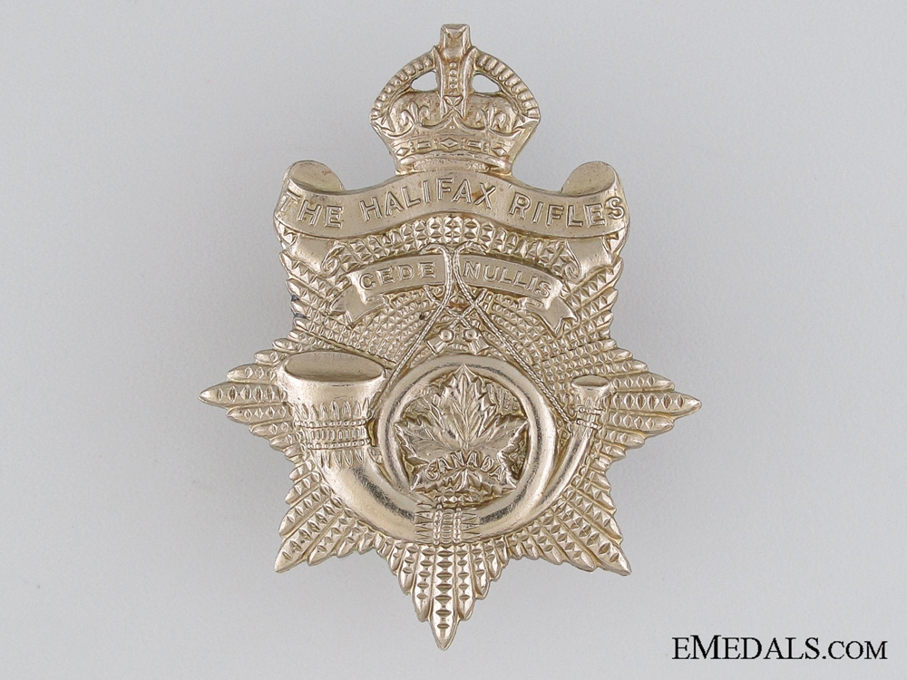eMedals-WWII Halifax Rifles Cap Badge