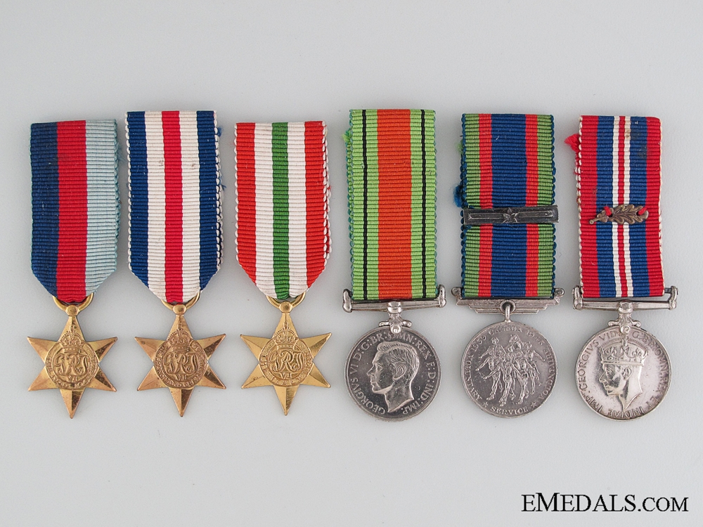 eMedals-WWII Miniature Group of Five