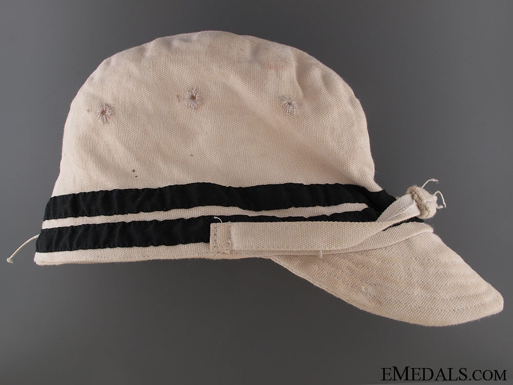 eMedals-WWII Naval Officer's White Summer Side Cap
