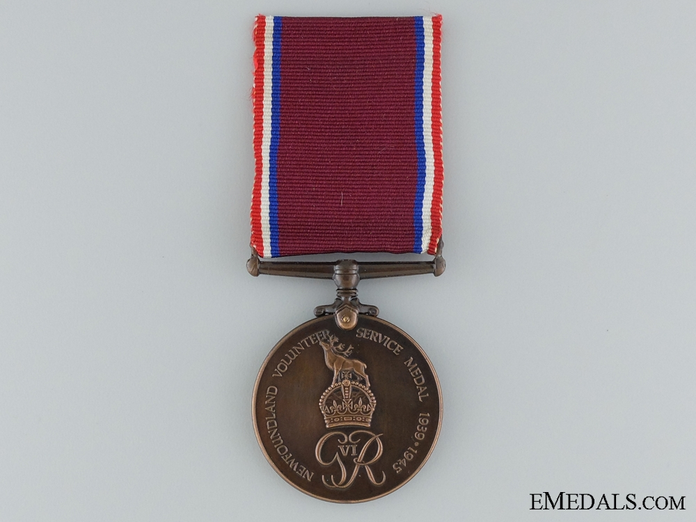 eMedals-WWII Newfoundland Volunteer War Service Medal to the Royal Navy
