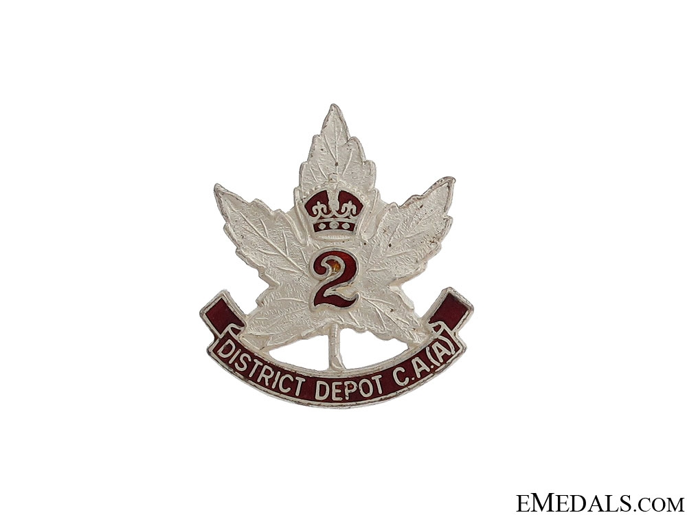 eMedals-WWII No. 2 District Depot (Toronto) Pin