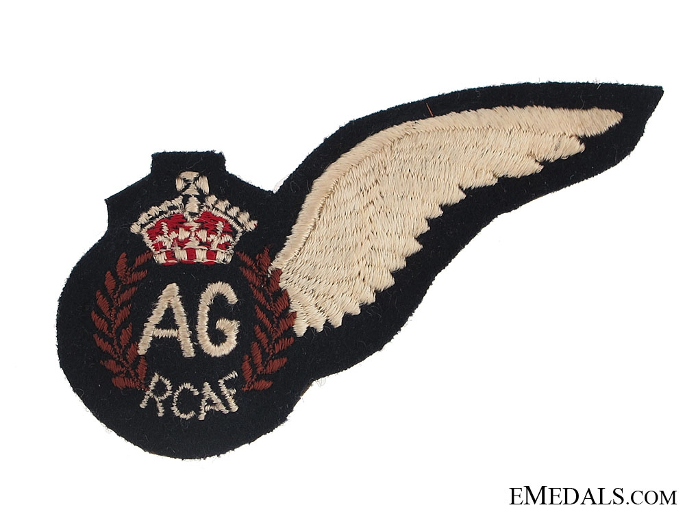 eMedals-WWII Royal Canadian Air Force (RCAF) Air Gunner's (AG) Wing