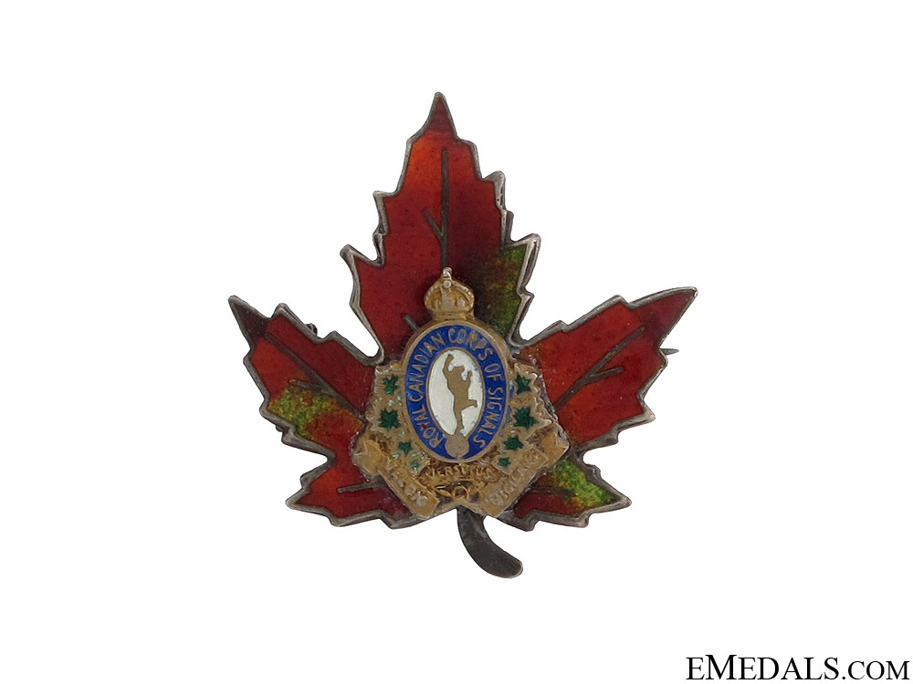 eMedals-WWII Royal Canadian Corps of Signals Pin