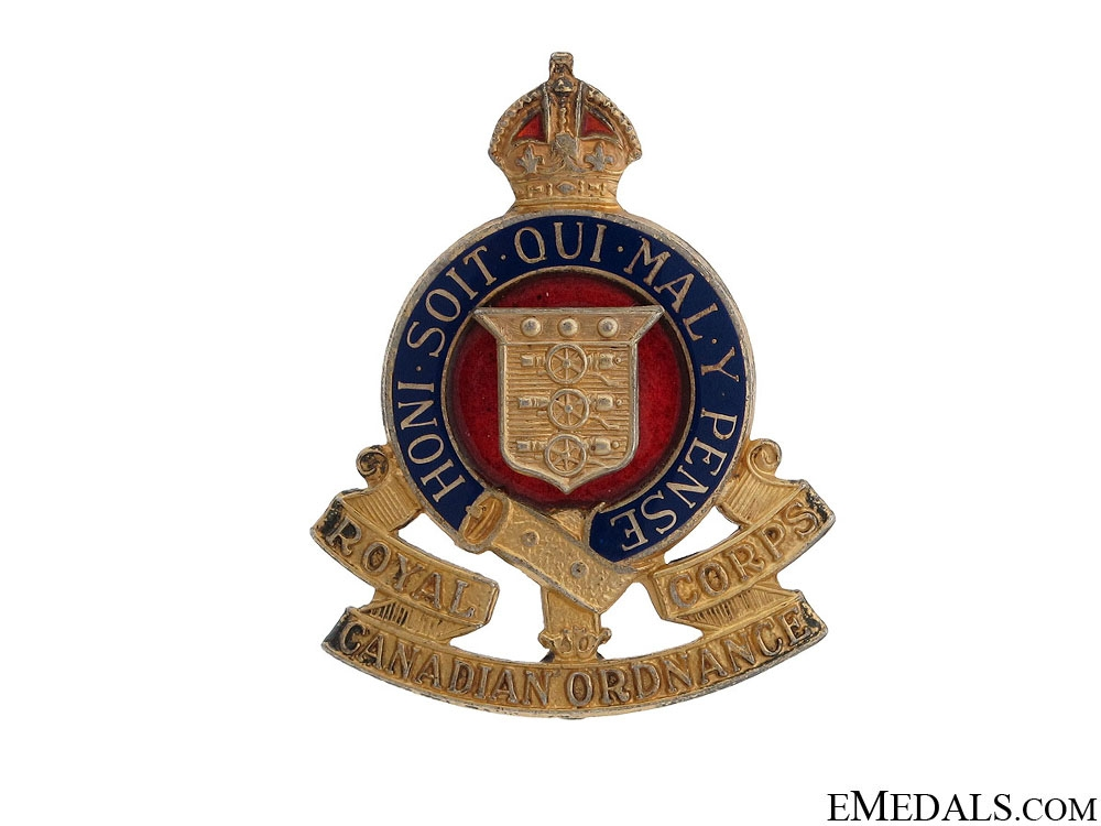 eMedals-WWII Royal Canadian Ordnance Corps Pin by Birks