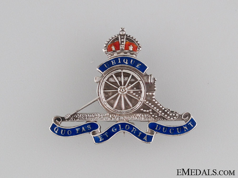 eMedals-WWII Royal Canadian Artillery Pin