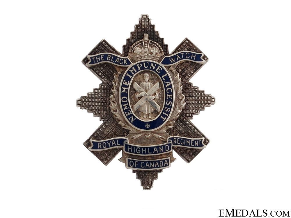 eMedals-WWII Royal Highland Regiment of Canada Pin
