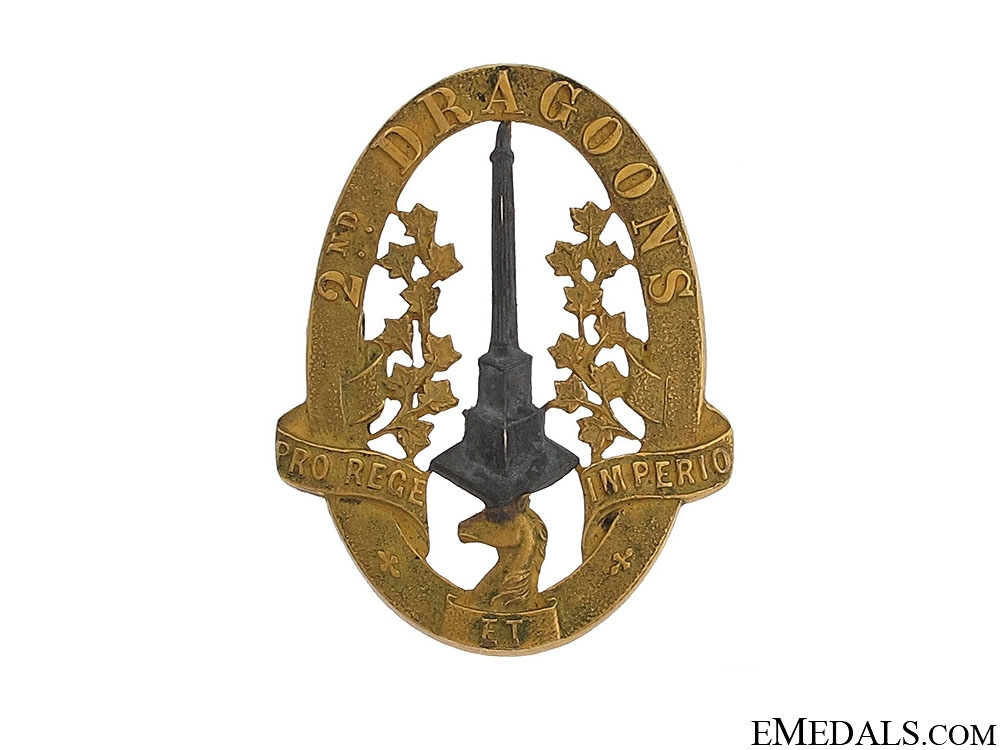 eMedals-WWII Second Dragoons Officer Cap Badge
