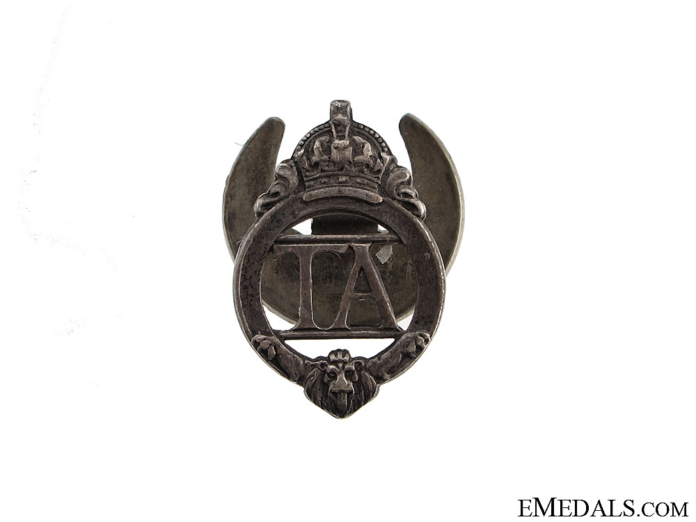 """eMedals-WWII Territorial Army """"TA"""" Badge"""